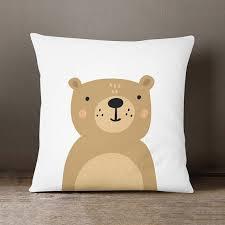 Boys Room Pillow Nursery Decor Bear Cushion Kids Room Kids Throw Pillows Nursery Throw Pillows Nursery Cushion