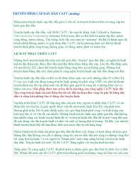 TRUYỀN HÌNH CÁP DÂY DẪN CATV
