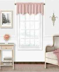 Elrene Kids Adaline 52 X 15 Faux Silk Rod Pocket Curtain Valance Reviews Curtains Drapes Window Treatments Blinds Macy S