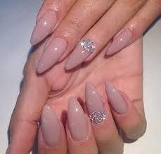 pink acrylic nails with rhinestones 217
