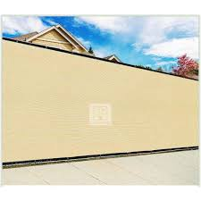 Colourtree 4 Ft X 12 Ft Beige Privacy Fence Screen Mesh Fabric Cover Windscreen With Reinforced Grommets For Garden Fence Tap0412 3 The Home Depot