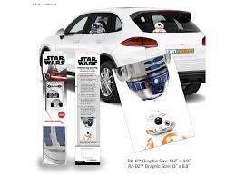 Star Wars Passenger Series Resistance Droids R2 D2 And Bb 8 Window Decals Two Pack