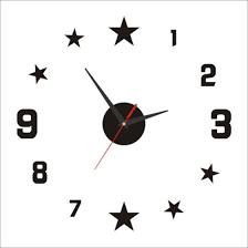 Shop Diy Small Clock Red Modern 3d Diy Star Mirror Surface Wall Clock Sticker Home Office Room Diy Decor Stars Digital Online From Best Home Storage Organization On Jd Com Global Site Joybuy Com