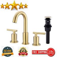 2 handle 8 inch brass bathroom sink