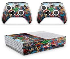Gng Xbox One S Marvel Console Skin Decal Sticker 2 Controller Skins
