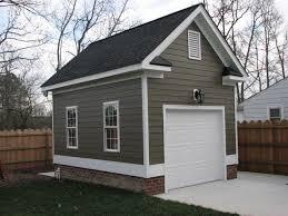 One Car Detached Garage Detached Single Car Garage With Hardi Backyard Garage Garage Plans Detached Garage Floor Plans