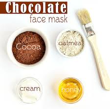 chocolate oatmeal face mask healthy