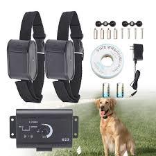Underground Waterproof Electric Dog Fence System 2 Shock Collars For 2 Dogs Walmart Com Walmart Com