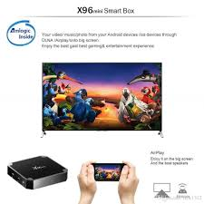 DHL X96 Mini Android 7.1 Amlogic S905W STB Tv Box 1GB + 8GB 2GB + 16GB EMMC  Flash KD KDplayer 17.6 4K Smart Android TV Box VS TX3 MXQ PRO Wireless  Surround