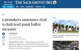 deal to halt lead paint ballot mere