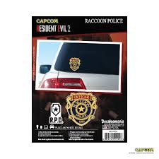 Resident Evil 2 Raccoon Police Decals Decalcomania