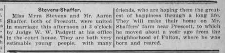 Steven Shaffer marriage - Ft Scott Monitor 16 Feb 1917 - Newspapers.com
