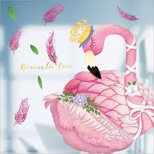 Pink Flamingo For Baby Girls Room Decor Removable Wall Sticker Nordic Cartoon Wall Decals House Decoration Decorative Vinyl Wall Decals Decorative Wall Art Stickers From Livesti 13 74 Dhgate Com