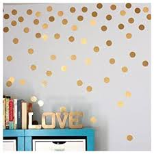 Wandtattoos Wandbilder 200 Metallic Rose Gold Polka Dot Wall Stickers Removable Wall Decal Decoration Fiscleconsultancy Com