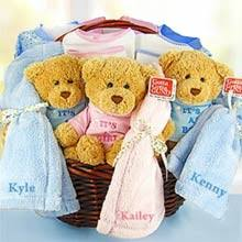 baby triplets gift baskets by the gift