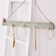 personalised jewellery hook board by