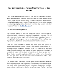 How Can Electric Dog Fences Stop The Spate Of Dog Attacks