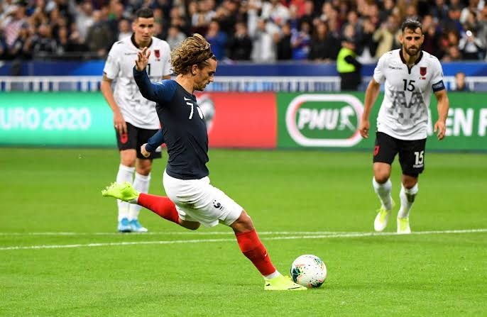 Image result for griezmann france penalty missed
