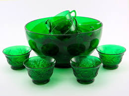 retro party beverage set in forest