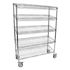Trolley Kit 460x1220x1750mm 5 Angled Shelves National Surgical Corporation