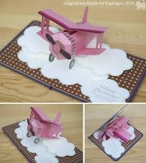 Pop Up Card Biplane Original Handmade By Kagisippo Tarjetas Creativas