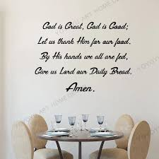 Wallpaper Home Decor Quote Wall Decal Kitchen Vinyl Sticker Mural Cafe Restaurant Quotes God Is Great God Is Good Decals Rb345 Wall Stickers Aliexpress
