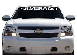 Chevy Chevrolet Silverado Windshield Banner Decal Sticker Custom Sticker Shop