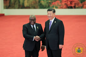 President Akufo-Addo, Ghana (left) and President Xi Jinping, China (right)