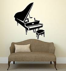 Ig1317 Vinyl Decal Classical Music Pianist Piano Wall Stickers Mural