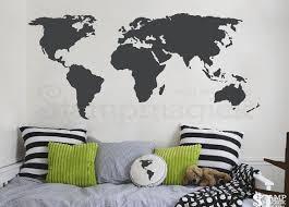 World Map Wall Decal World Map Vinyl Wall Mural Globe Decal Chalkboard White Board Dry Erase Sticker Con World Map Wall Decal Map Wall Decal World Map Wall