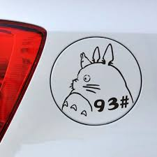 Car Sticker Car Decal Funny Car Decal Sticker Of Cute Ghibli Totoro Car Styling For Car Laptop Window Sticker Exterior Accessories Itrainkids Com