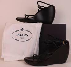prada black leather crisscross ankle