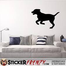 Dog Puppy Running Decal Sticker Frenzy