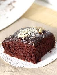 chocolate cake recipe eggless with