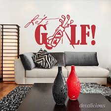 Let S Golf Wall Decal Walls Decals Interior Design Wall Etsy Interior Wall Design Golf Wall Decor Interior Design