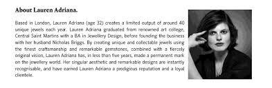 NEW YORK / LONDON: a landmark exhibition of Lauren Adriana 's work ...