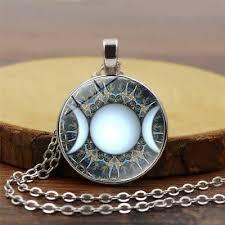 moon dess pendant necklace witch