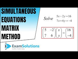 simultaneous equations matrix method