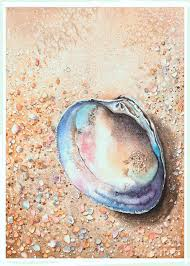 A Little Clam Painting by Hilda Wagner