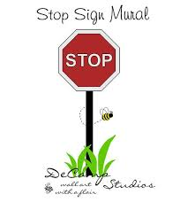 Stop Sign Mural Wall Decal For Baby Boy Transportation Car Nursery Or Children S Room Decor Decampstudios Room Stickers Baby Nursery Murals Mural Wall Art