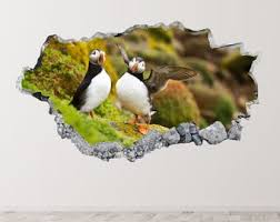 Puffin Wall Sticker Etsy