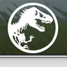 Amazon Com Jurassic Park T Rex Dinosaur Tyrannosaur White 4 Tall Decal Laptop Tablet Skateboard Car Windows Sticke Kitchen Dining