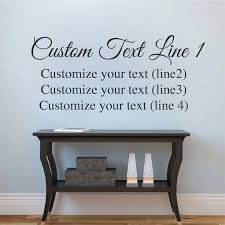 Customize Two Fonts Vinyl Decal Trendy Wall Designs