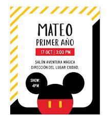 Invitacion Cumpleanos Mickey Rayas Invitaciones De Cumpleanos