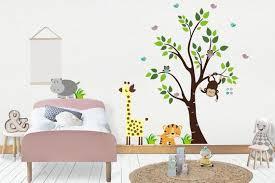Wall Decals Nursery Animal Nursery Decals Nature Wall Etsy
