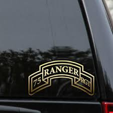 Army 75th Ranger Regiment Decal Sticker Veteran Car Truck Window Patch Laptop Ebay