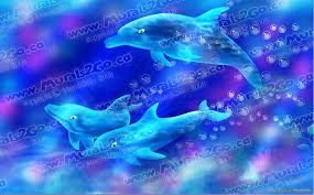 Murals2go Dolphins Wall Decal