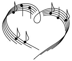 Heart Music Note Clipart Black And White