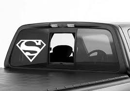 Large Superman Truck Window Decal On Etsy 9 02 Window Decals Car Man Of Steel