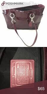coach shoulder bag patent leather